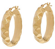 Dieci 1 Pyramid Design Oval Hoop Earrings 10K Gold - J332263