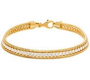 As Is 1.90 cttw Diamonique Tennis Bracelet Sterling or 14K Clad - J332663