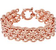 Bronze Triple Rolo Link Bracelet by Bronzo Italia - J333763
