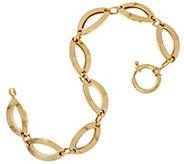14K Gold 8 Polished Marquise Link Bracelet, 9.1g - J334663
