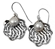 Or Paz Sterling Openwork Cultured Freshwater Pearl Earrings - J336363