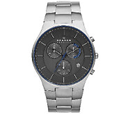 Skagen Mens Titanium Black Dial Bracelet Watch - J337063