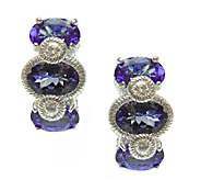 Judith Ripka Sterling Tanzanite & Diamonique Earrings - J337963