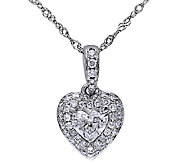Diamond Heart Pendant, 1/2cttw, 14K White Gold,by Affinity - J339463