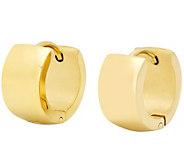 Stainless Steel Polished Huggie Hoop Earrings - J342763
