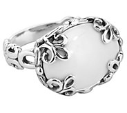Carolyn Pollack Sterling White Agate Bold EastWest Ring - J342863