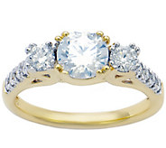 3-Stone Diamond Bridal Ring, 14K, 1.50cttw by Affinity - J344163
