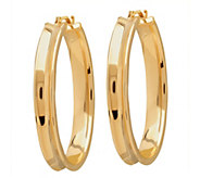 EternaGold Polished Oval Concave Hoop Earrings,14K Gold - J344663