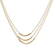 14K Gold 18 Multi-Strand Bar Necklace, 6.3g - J346463
