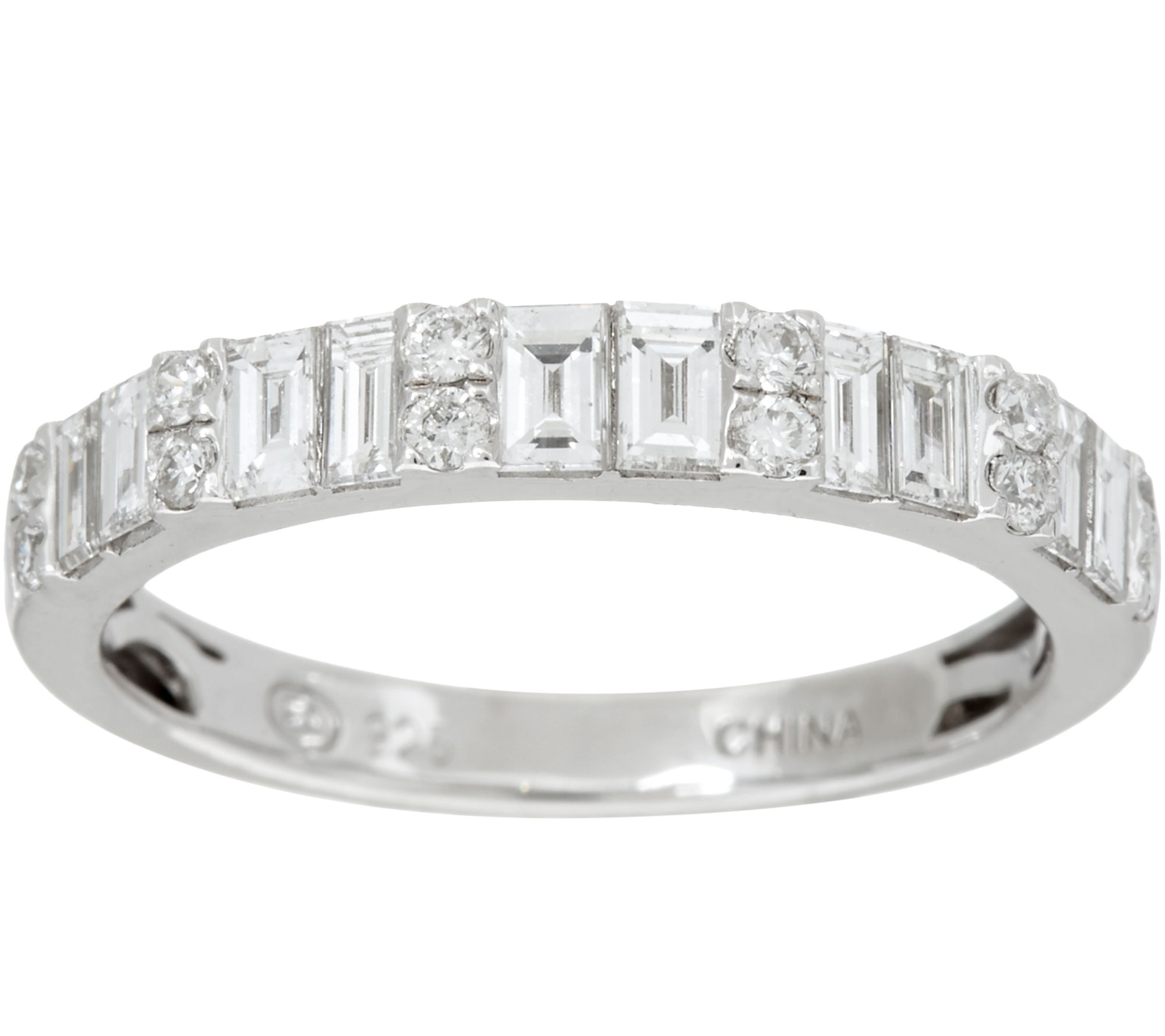 anniversary white bridal and mosaic nk bands in princess ctw c round collection cut diamond gold halo set front band