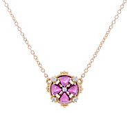 Judith Ripka 14K Gold Gemstone & Diamond Floral Necklace - J348263