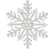 Judith Ripka Sterling Silver Diamonique Snowflake Pin / Enhancer - J349563