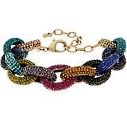 LOGO Links Lavish Pave Links Bracelet - J350463