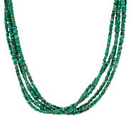American West Five Strand Freeform Gemstone Bead Necklace - J351063