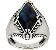 Carolyn Pollack Sterling Silver Faceted Labradorite Ring - J352063