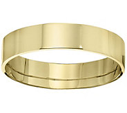 Mens 14K Yellow Gold 5mm Flat Wedding Band - J376063