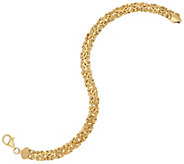 14K Gold Polished Reversible Byzantine Bracelet - J58163