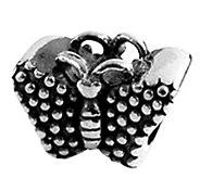 Prerogatives Sterling Textured Butterfly Bead - J108464