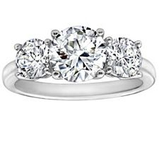 Epiphany Diamonique 3.50 ct tw 3-Stone Ring
