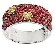 Dweck Diamonds 14K Clad Caroline Red Sapphire DoubleBandRing - J159464