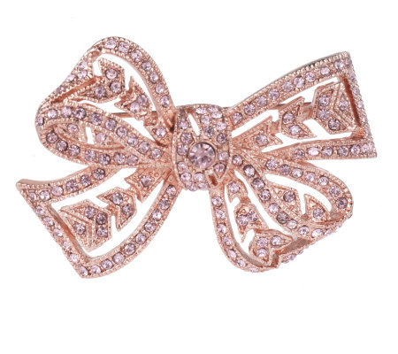 Kenneth Jay Lane's Meaningful Pink Bow Pin