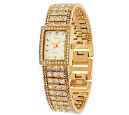Linea by Louis DellOlio Crystal Bracelet Watch - J271864