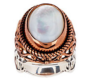 Carolyn Pollack Elegant Affair Mixed Metal Mother-of-Pearl Doublet Ring - J273964