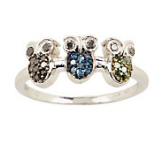 Choice of Critter Diamond Ring, Sterling, 1/4 cttw, by Affinity - J279164