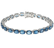 21.55 ct tw London Blue Topaz Sterling 8 Tennis Bracelet - J288764