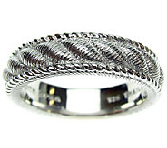 Judith Ripka Sterling Silver Textured Womens Ring - J310564