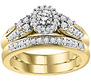 Affinity Diamond 1/2 ct tw Round Cluster 2-Piec e Ring Set, 14 - J311364