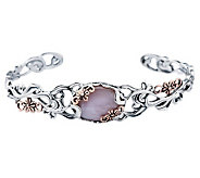 Carolyn Pollack Sterling Buttercup Small Cuff Bracelet - J312264