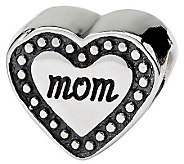 Prerogatives Sterling Mom Heart Bead - J312764
