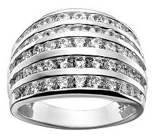 Epiphany Diamonique 5-Row Ring