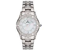 Bulova Ladies Stainless Steel Crystal AccentedBracelet Watch - J316364