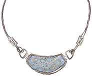 Sterling Silver Roman Glass Station Necklace by Or Paz - J319364