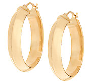 Vicenza Gold Polished Knife Edge Round Hoop Earrings, 14K - J320464