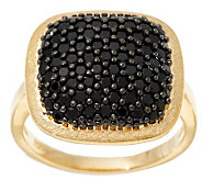 As Is Veronese 18K Clad 1.00 ct tw Black Spinel Cushion Ring - J321364