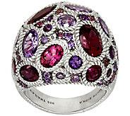 Judith Ripka Sterling 7.50 cttw Gemstone Cluster Ring - J321964