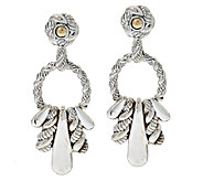 JAI Sterling & 14K Accent Hill Tribe Front Facing Earrings - J325164