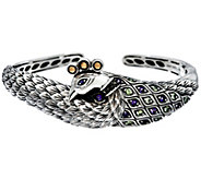 JAI Sterling & 14K Multi-Gemstone Peacock Cuff Bracelet - J329264