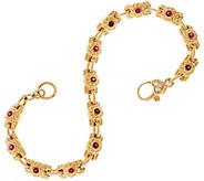 Judith Ripka 14K 0.50 cttw Gemstone & Diamond 7-1/4 Bracelet, 19.6g - J329664