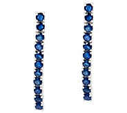 Precious Gemstone 1-1/2 Sterling Silver Drop Earrings 2.00 cttw - J329964