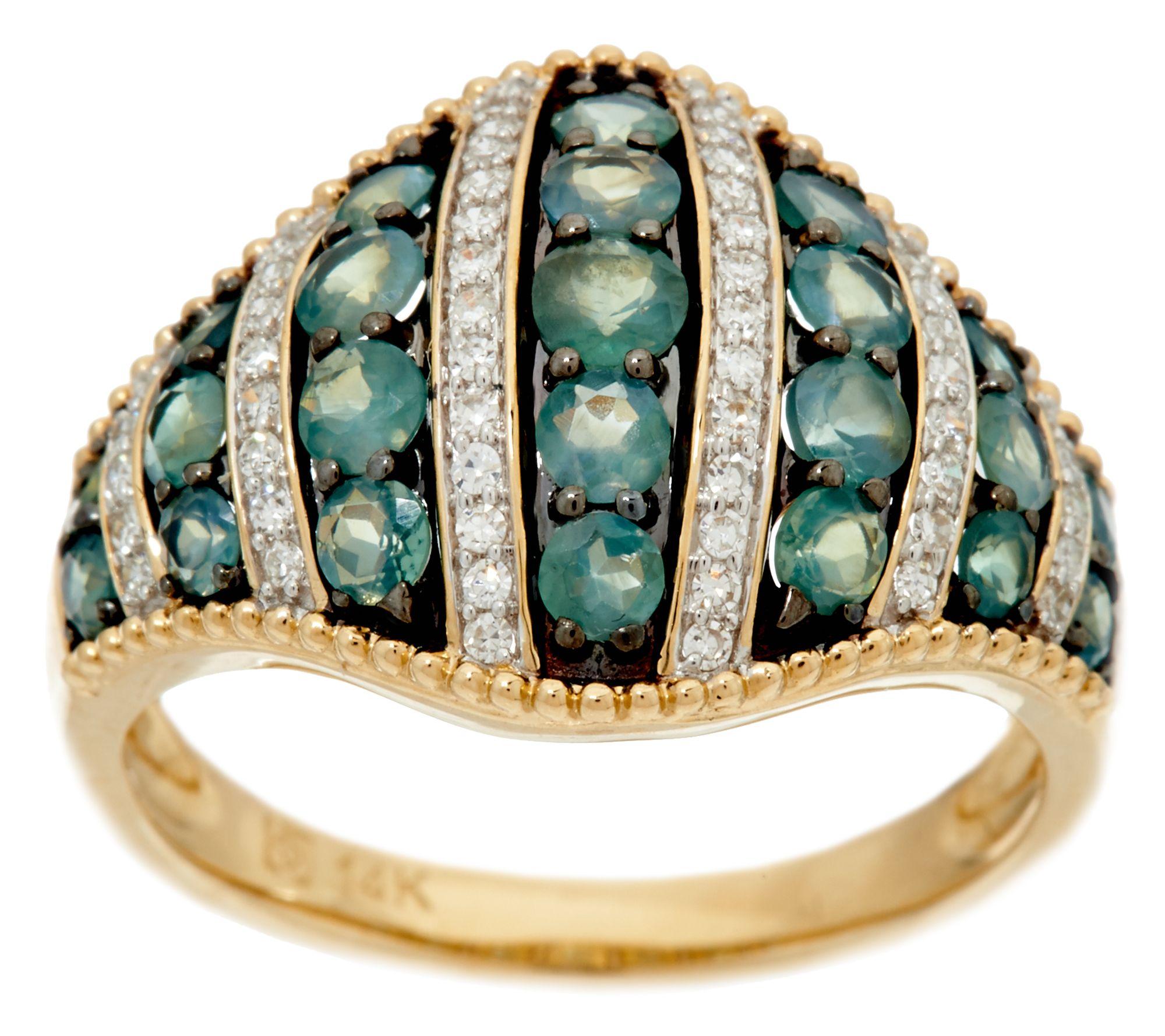 Alexandrite Class Ring Gold Alexandrite & Diam...