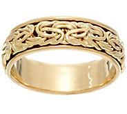 14K Gold Polished Byzantine Spinner Ring - J331564