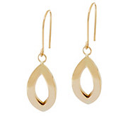14K Gold Polished Marquise Link Dangle Earrings - J334664