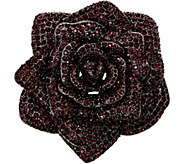Joan Rivers Lavish Pave Rose Pin - J349364