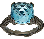 Peter Thomas Roth Sterling Fantasies Noir 8.40 ct Blue Topaz Ring - J349864