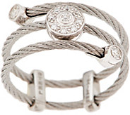 ALOR Stainless Steel & Diamond Adjustable Ring - J354564