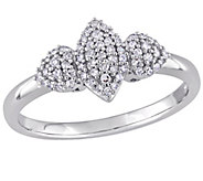 Diamond Marquise & Heart Ring, 14K, 1/5 cttw, by Affinity - J376564